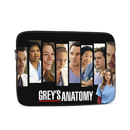 Greys Anatomy Laptop Sleeve Case Protective Soft Padded Zipper Cover Carrying Computer Bag Laptop Sleeve Bag Water Repellent Vertical Protective Case 15 inch