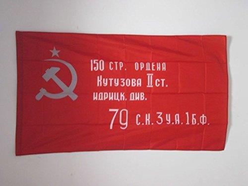 AZ FLAG Flagge ROTE Armee DER UDSSR Sieg VON 1945 90x60cm - SOWJETUNION BAUERNARMEE Fahne 60 x 90 cm Scheide für Mast - flaggen Top Qualität