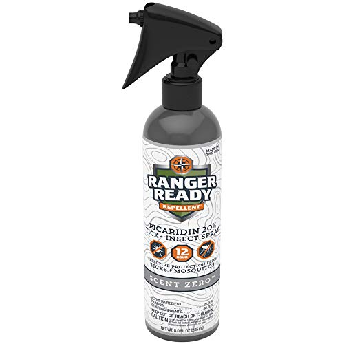 Ranger Ready Picaridin 20% Tick & Insect Repellent, Scent Zero, 8 Oz.