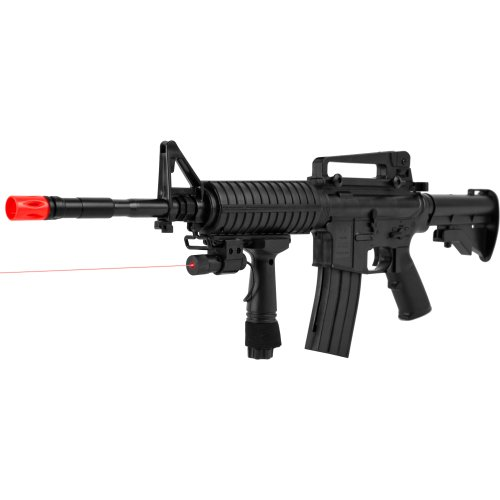 Cyma P.1158CA Airsoft Rifle with Targeting Laser, Black