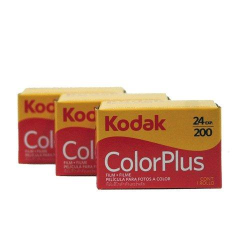 Kodak, pellicola 35 mm, modello ColorPlus 200 ASA, 24 esposizioni, confezione da 3