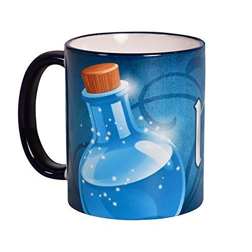 Elbenwald Mana Potion Tasse für Gaming Fans 320ml Keramik blau weiß
