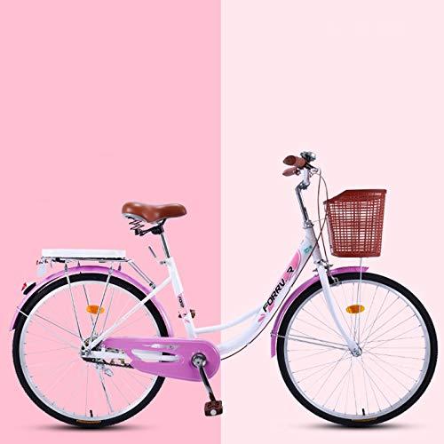 Comfort Bike, Retro Bicycle with Basket, Mens Bicycle, Lady Bike-B1-24inch