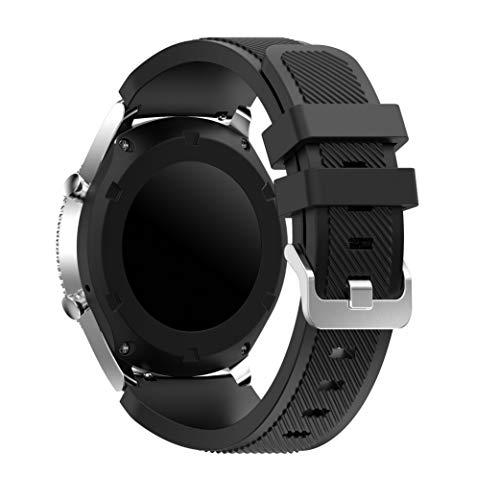 Syxinn Kompatibel mit Armband Galaxy Watch 3 45mm/Gear S3 Frontier/Classic 22mm Ersatz Uhrenarmband Silikon Sportarmband for Galaxy Watch 46mm/Moto 360 2nd Gen 46mm