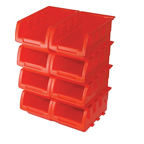 Silverline 250968 Stacking Boxes Set, 165 x 105 x 75 mm - 8 Pieces