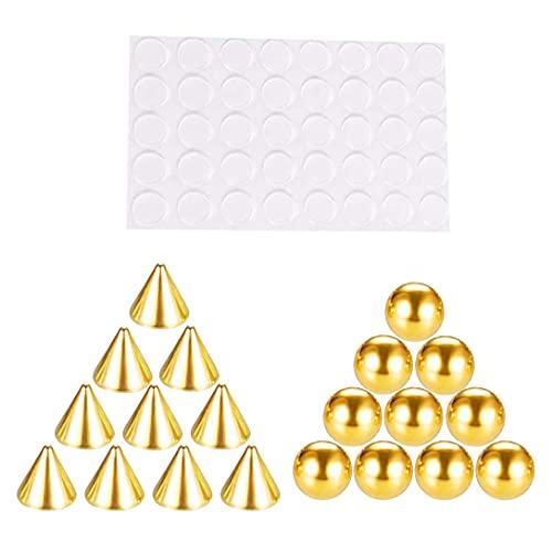 MAJFK - Piercing per naso in acciaio INOX, con finti piercing per labbra, per naso, fossette, non piercing, per il corpo, 5 mm, colore: oro