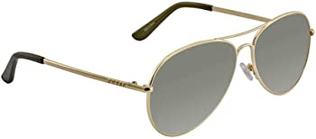 Guess Grey Polarized Aviator Unisex Sunglasses
