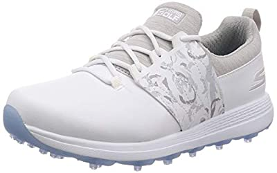 Skechers Women's Eagle Spikeless Golf Shoe, White/Gray Floral, 7 M US
