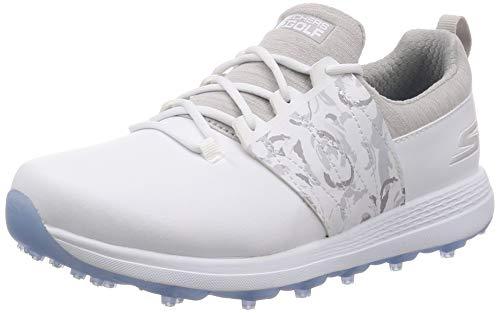 Skechers Damen Golf Shoe Eagle Spikeless, Golfschuh, Weiß/Grau Floral, 40 EU