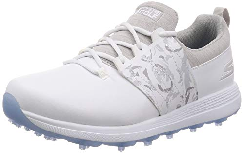 Skechers Damen Golf Shoe Eagle Spikeless, Golfschuh, Weiß/Grau Floral, 35.5 EU