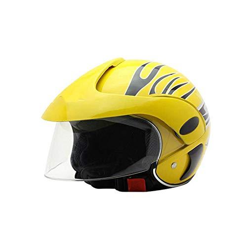 KYLong Kinderhelm Elektro-Motorrad Harley Halbhelm Herren und Damen Baby Reithelm Herbstmode Helm, gelb