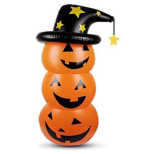 Ringnigt Aufblasbarer Kürbis, Halloween-Party, Outdoor, Innenhof, Garten, Rasen, Dekoration, Halloween-Kürbis, aufblasbares Modell, drei Kürbisse, überlagerte Tumbler aufblasbare Säule