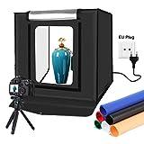 YOTTO Caja de Luz Fotografía 40x40x40cm Estudio Fotográfico Brillo Ajustable...