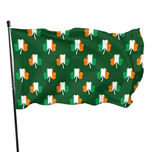 N/A American Guard Vlag Banner Home Vlag Ierse Vlag Groen Wit Oranje Op Groene Verticale Erf voor Familie Patio College Decoratie 3x5 Voet