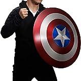PRETAY Escudo Capitan America Réplica De Marvel Prop,1: 1 Adulto Apoyos de PelíCula CapitáN Disfraz Shield, CapitáN Disfraz Shield, DecoracióN de Pared de Bar 47.5CM