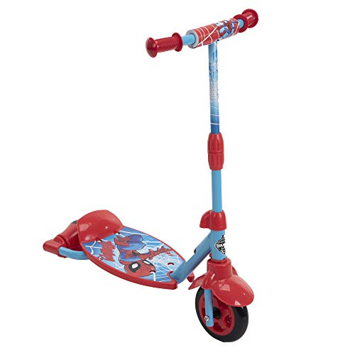 Product Image of the Huffy Boys Spider-Man Preschool Scooter for Kids, Red, 3-2-Grow