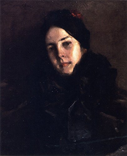 Portrait Of Mrs. C (also known as Mrs William M. Chase) - By William Merritt Chase - Impresión en lienzo 24x29 pulgadas - sin marco