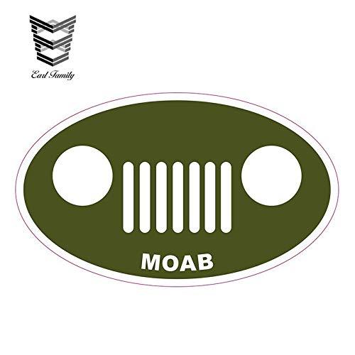 A/X 13cm x 7.8cm Car Styling MOAB Vinyl Decal SUV 4x4 Army Green Car Sticker JDM Bumper Decal Waterproof Car Accessories