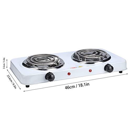 Oure Placas de cocción portátiles, quemadores Dobles eléctricos de fácil Transporte, diseño liviano para Cocina en casa
