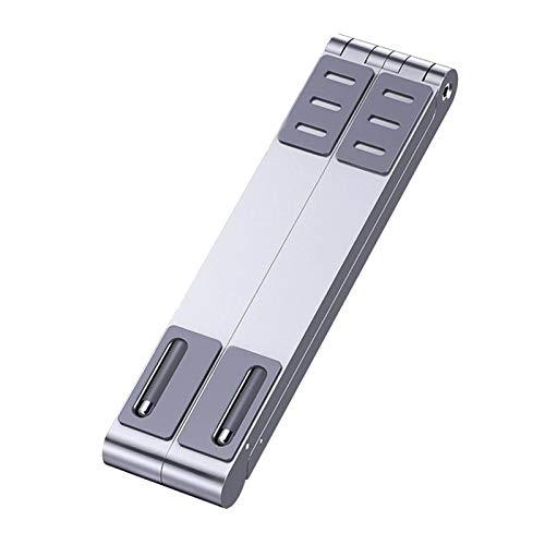 MagiDeal Portátil Plegable + Teléfonos Móviles + Soporte para Tabletas Soporte para Computadora de Aleación de Aluminio Soporte Vertical para Computadora Portá - Plata