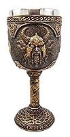 Ebros Norse Mythology Viking Alfather Odin God Of Asgard 7oz Resin Wine Goblet Chalice With Stainless Steel Liner Asgardian Ruler Thor Loki Frigga Royal Gods Family Celtic Knotwork Base