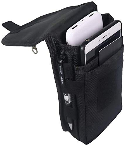 Multi-Purpose Smartphone Pouch, Belt Loop Phone Pouch, Tactical Cell Phone Holster Carrying Case, Men's Waist Pocket for Hiking,Camping,Barbeque,Rescue Essential