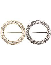 SOIMISS 2 Stuks T- Shirt Clips Strass Sjaal Clip Ring Elegante Sjaals Taille Gesp Kleding Ring Wrap Houder Mode Decoratice Accessoires Voor Vrouwen Dames Meisjes Diverse Kleur