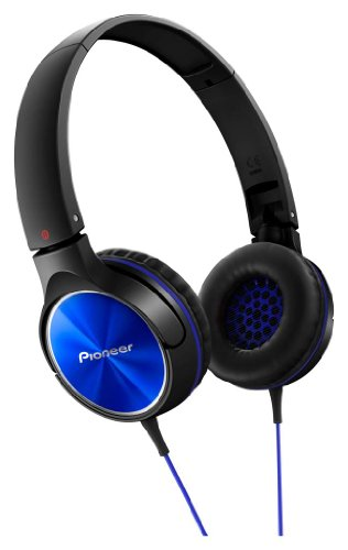 パイオニア SE-MJ522 ヘッドホン 密閉型/オンイヤー/折りたたみ式 ブルー SE-MJ522-L