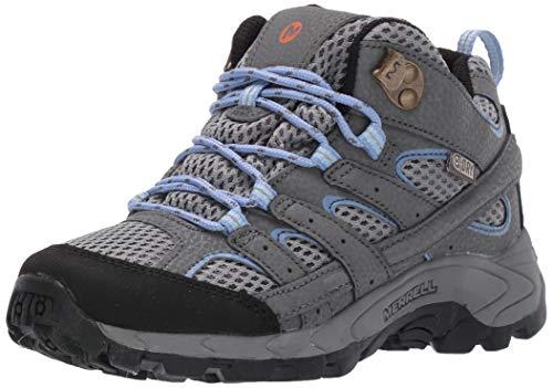 Merrell Moab 2 Mid WTRPF, Chaussures de Randonnée Basses, Gris (Grey/Periwinkle), 35 EU