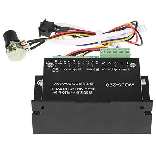 YUNJINGCHENMAN WS55-220 DC 48V 500W CNC Controlador de Controlador de Motor BLDC Controlador de Controlador de Motor Paso Motor de Motor 20-50 VDC Herramienta eléctrica