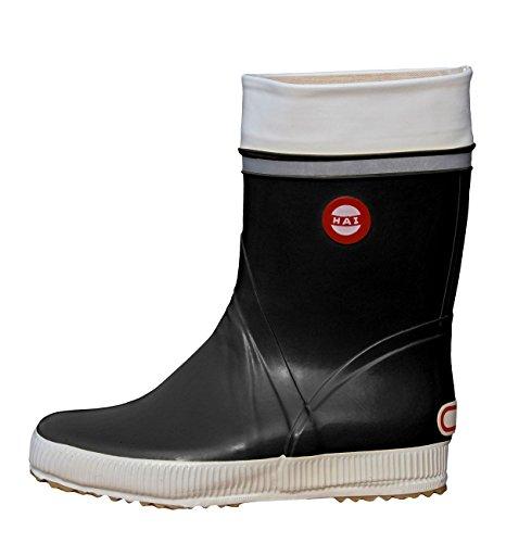 Nokian Footwear Hai Classic Wadenhohe Gummistiefel für Damen und Herren handgefertigt aus Naturkautschukmischung, Schwarz, 42 EU