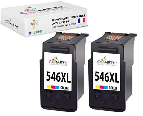 2 cartuchos CL 546-XL CL546CL 546 compatibles con PIXMA MG2450 MG2250s MG2950 MG3050 MG3200 MG3650 TR4550 TS3150 TS5150 TS5151-2 colores – Cometa Francia