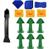 outils de calfeutrage,13 Pièces Lisseur Joints Silicone et Outils Calfeutrage, outil de retrait de joints avec grattoir/extracteur calfeutre/buse, joint d'étanchéité en silicone outil de démontage