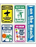 オンザビーチ ステッカー セット バリュー ミニ シール サーフ 耐水 耐光 スマホ PC-V5