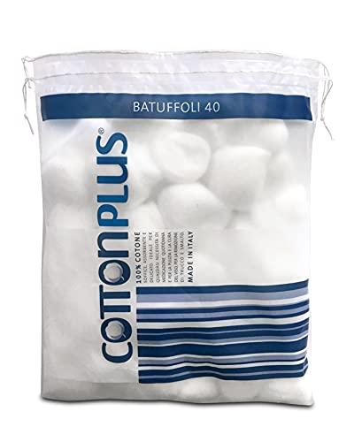 Cotton Plus BATUFFOLI 40 pz. - LINEA MEDICALE | 100% PURO COTONE IDROFILO CARDATO PER USO MEDICALE | Morbido e assorbente.