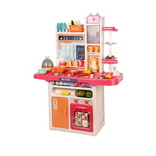 LIUJING Set di giocattoli da cucina Felice piccolo chef fingendo di giocare con giocattoli, set da cucina, giocattolo leggero con suono, giradischi in circolazione, accessori da cucina giocattolo (set