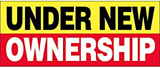 4 Less CO 4x12 Ft Under New Ownership Vinyl Banner Sign yrb