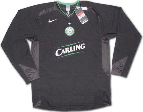 Original Celtic Glasgow NIKE Away Spieler Trikot Code 7 MatchWorn Shirt Langarm L