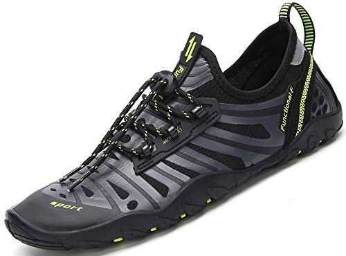 Saguaro Herren Damen Halbschuhe Schuhe zum Tauchen Schwimmen für Strand Surfen Yoga Wassersport, Grau - Surf Grigio - Größe: 41 EU