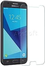 Premium Tempered Glass Screen Protector Guard Shield Saver Armor Cover for MetroPCS Samsung Galaxy J3 Prime SM-J327T1 Cellphone - USA