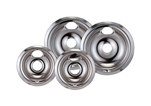 Stanco Ge/Hotpoint Electric Range Chrome Reflector Bowls With Locking Notch by Stanco
