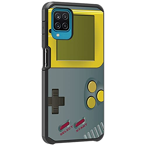 TurtleArmor | Compatible with Samsung Galaxy A12 5G Case (2021) | A125 | Slim Hybrid Hard Shell TPU Dual Layer Case Cool Designs - Gray Gameboy