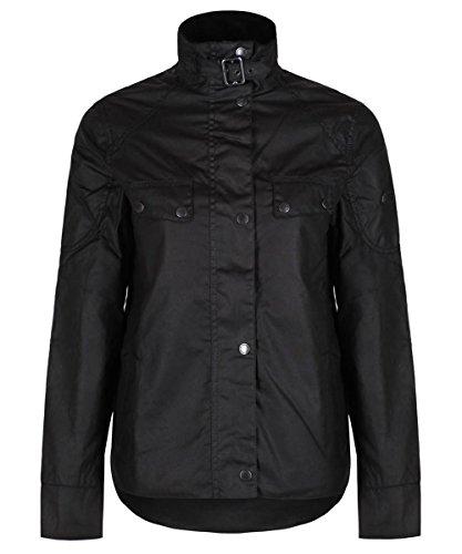 Barbour International Damen-Wachsjacke, Zerstäuber, Größe 38, Schwarz