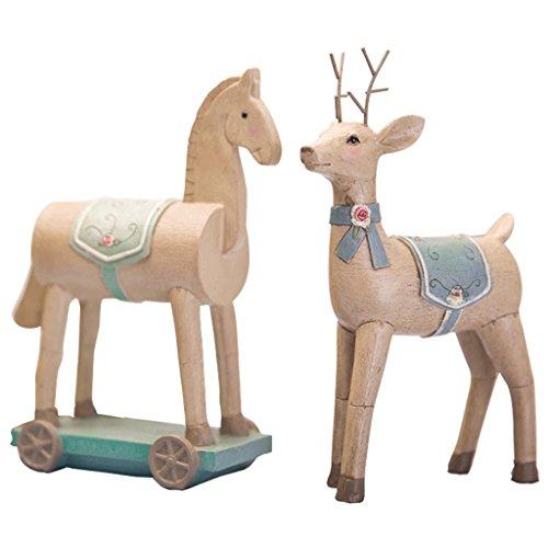 Creatieve sprookje landelijke serie Resin Horse/herten Home decoraties Wijnkast indoor woonkamer salontafel TV kast bureau bruiloft geschenken