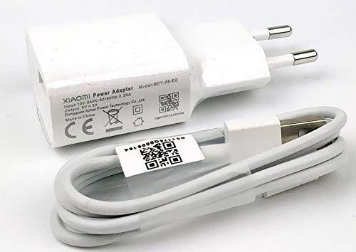 Movilux_ES Cargador Modelo MDY-08-EO (5V/2A) + Cable USB Tipo C, Blanco, Compatible con Xiaomi Mi5, Mi5s, Mi6, Mi8, Mi8 Lite