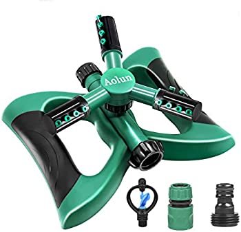 Aolun Automatic 360 Rotating 3 Arms Adjustable Lawn Water Sprinkler