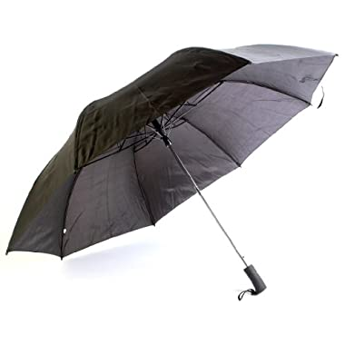 Chaby Golf Size Umbrella with Mesh Bag, 56-inch, Black