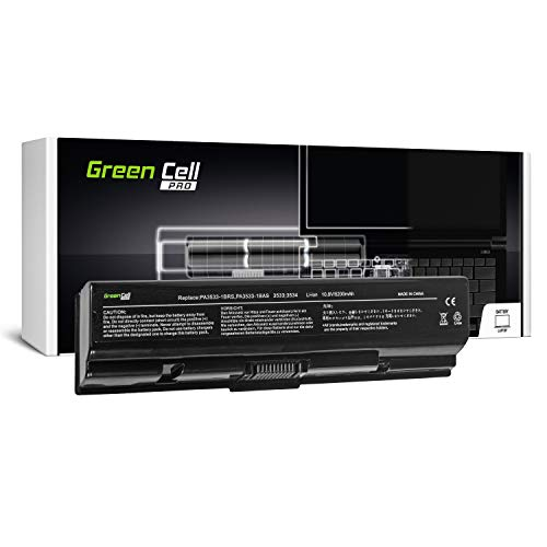 Green Cell PRO Serie PA3534U-1BRS Batería para Toshiba Satellite A200 A300 A500 L200 L300 L500 Ordenador (Las Celdas Originales Samsung SDI, 6 Celdas, 5200mAh, Negro)