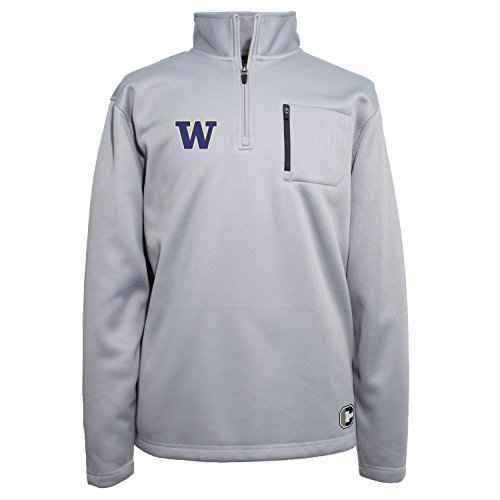 Large Heather Blue Crable NCAA Mens Campus Specialties Long SLV Quarter Zip Pullover