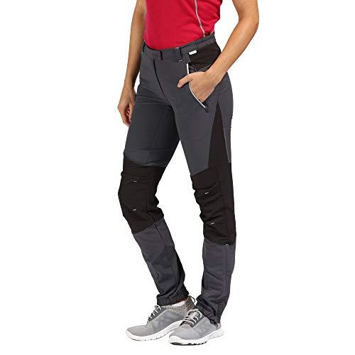 Regatta WMNS Mountain TRS Pantalon Femme, Sigy/Blk/Sig, FR : XS Fabricant : Taille 10